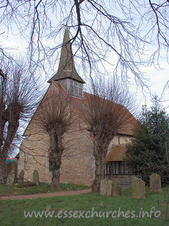 "All Saints, Cressing Church - Cressing church, is seen here, from the South East, with what Pevsner refers to as it's ""stunted belfry"" proudly on display."