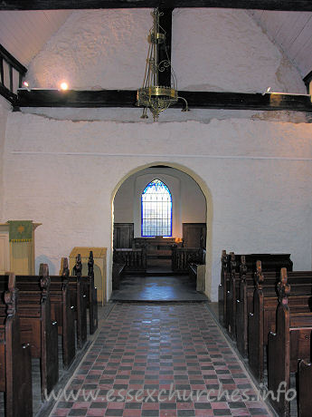 All Saints, Vange Church - The full view to the E, taken from underneath the W gallery.