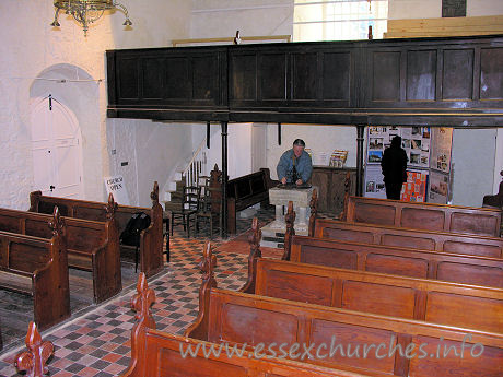 All Saints, Vange Church - The view from the pulpit.