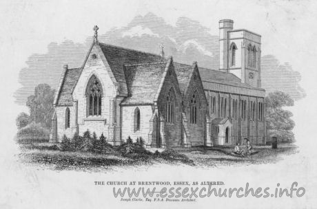 St Thomas of Canterbury, Brentwood Church - The church at Brentwood, Essex, As altered.