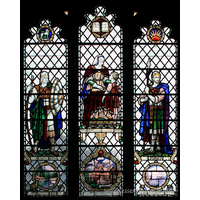 St Mary the Virgin, Prittlewell Church - In thee do I put, O Lord, my trust. Archie Lanchester Gowing A.I.F. - killed in action 11th April 1917. Caroline Kyle Gowing - died 30th June 1927. Frederic Lanchester Gowing - died 16th Sept 1930. Jane Watts-Ditchfield - died 30th March 1937. Jonathan. Joshua. Timothy with his grandmother Lois.