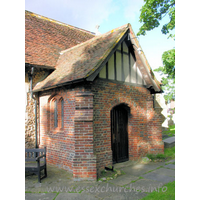 St Mary (Old Church), Frinton-on-Sea Church - The S porch is an early C16 brick example.