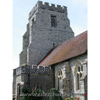St Nicholas, Canewdon Church - From Pevsner: