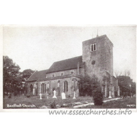 St Mary, South Benfleet Church - Postcard - Willock Series