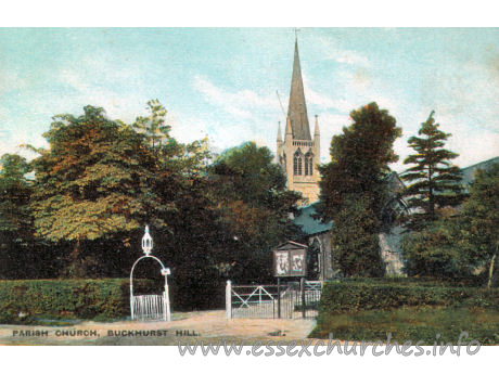 "St John, Buckhurst Hill Church - Postcard - Field's ""Essex"" Series No. 45"