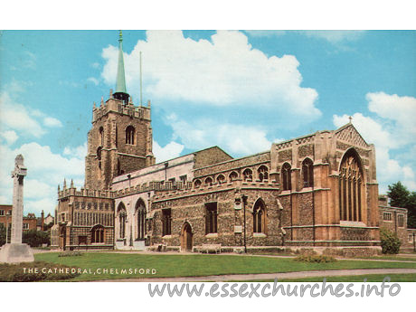 St Mary, St Peter & St Cedd, Chelmsford Cathedral - A Salmon Cameracolour POST CARD