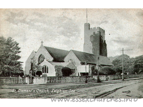 St Clement, Leigh-on-Sea Church - Postcard - Valentine's Series.
