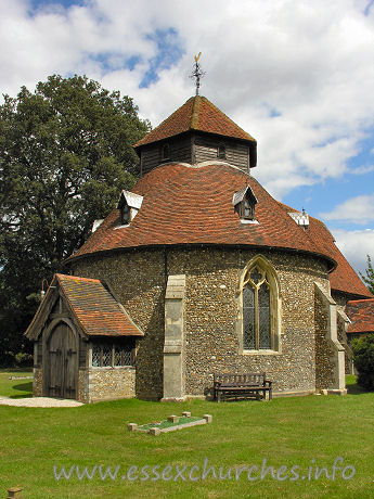 St John the Baptist, Little Maplestead Church - This church was built by the Knights Hospitallers, and was 