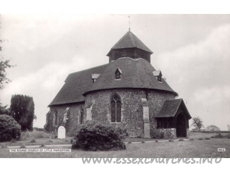 St John the Baptist, Little Maplestead Church - Postcard by Cranley Commercial Calendars, Ilford, Essex.