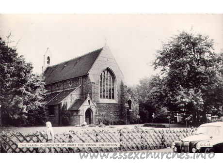 St Mary the Virgin, Loughton Church - Postcard by Cranley Commercial Calendars, Ilford, Essex.