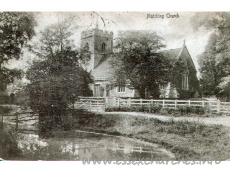 St Mary the Virgin, Matching Church - Postcard - A. Maxwell, Photographer, Bishop's Stortford