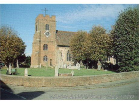 St Thomas, Bradwell-juxta-Mare Church - Postcard Copyright - St Peter's Chapel Commitee