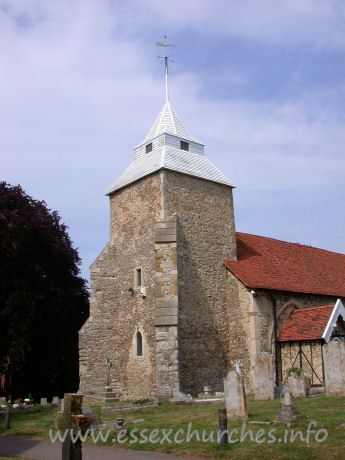 St Mary the Virgin, North Shoebury Church - This lower parts of the tower are C13, as is shown by the west 