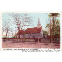 Holy Trinity, Southchurch Church - The small, Norman church, before enlargement.