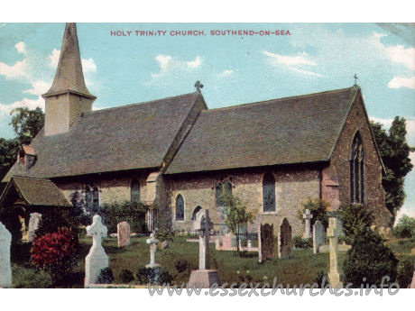 Holy Trinity, Southchurch Church - And again, the Norman church, before enlargement, seen here 