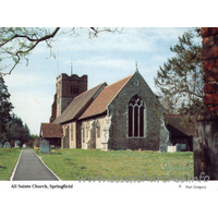 All Saints, Springfield Church - Postcard - Sold in aid of Farleigh - The Mid-Essex Hospice