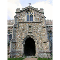 St John the Baptist, Thaxted Church - The south porch.