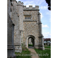 St John the Baptist, Thaxted Church - Through the south porch.
