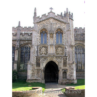 St John the Baptist, Thaxted Church - The north porch.