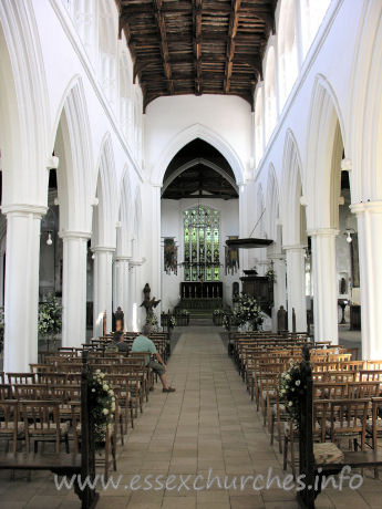 "St John the Baptist, Thaxted Church - From Pevsner: ""The arcades are the earliest element of the 