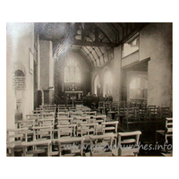 All Saints, East Horndon Church - Not a postcard, but a shot of an original image within the church itself.