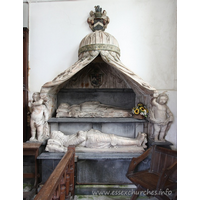 St Peter, Little Warley Church - Monument to Sir Denner Strutt and his wife, 1641.