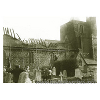 St Giles & All Saints, Orsett Church - Fire at Orsett Church, July 1926Both Orsett and Tilbury fire brigades were in attendance at the fire which caused serious damage to the church, much of the roof was destroyed, ancient stained glass was also destroyed.This image was supplied by Steve Pavitt. The original source is, as yet, unknown, but will be credited ASAP.Please visit Steve's superb website,Bygone Grays Thurrock.