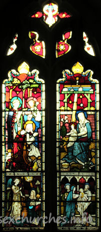 All Saints, Hutton Church - This Christmas window, at the west end, was donated by John Offin, an influential churchwarden, in memory of his uncle Abraham.
