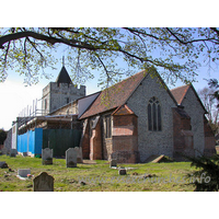St Michael, Aveley Church - Much of the church was obscured by building work on this visit.
