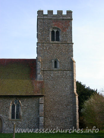 St Botolph, Beauchamp Roding Church - We reached Beauchamp Roding towards the end of an afternoon in which I had planned to 'do' all of the Rodings. The tower seen in this image is fortunate to still be standing. When Pevsner first visited this church, it was in an extremely precarious state.