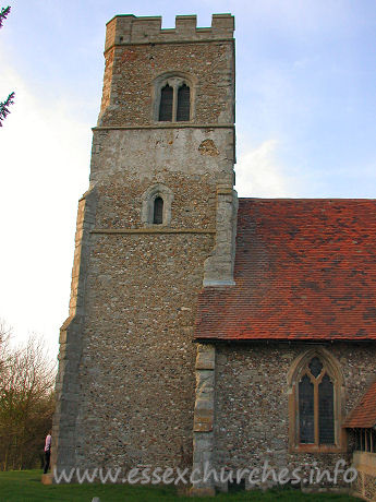 St Botolph, Beauchamp Roding Church - More problems with the stonework fixed and rendered.