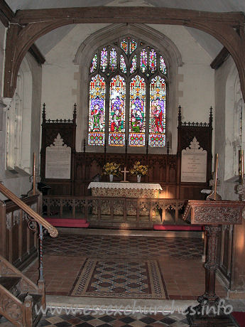 St Botolph, Beauchamp Roding Church - The chancel itself, feeling and looking very complete, with all parts in perfect compliment to one another.