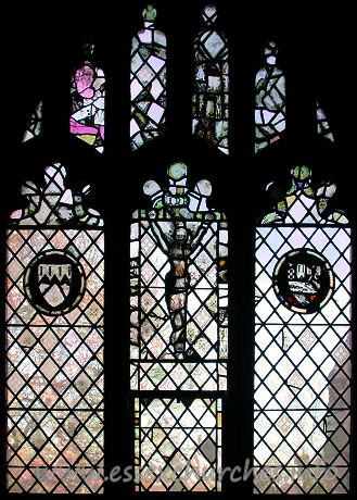 St Andrew, Hornchurch Church - Glass from the S aisle.