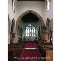 St Andrew, Hornchurch Church - The interior, looking E towards the chancel.