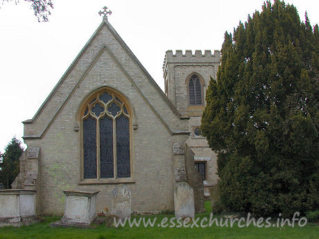 St Germain, Bobbingworth Church - The chancel, seen here from the outside, was constructed in 1840.