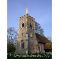 St Edmund, Abbess Roding Church - The W tower is also a result of the 1867 restoration.