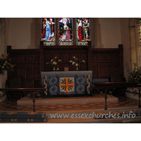 St Edmund, Abbess Roding Church - The chancel and altar.