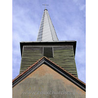 St Margaret, Stanford Rivers Church - The belfry, typical of so many Essex churches.