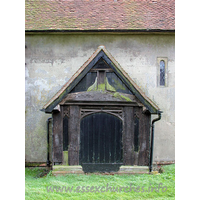 St Margaret, Stanford Rivers Church - The N porch, late C15, now blocked, to accommodate the N 