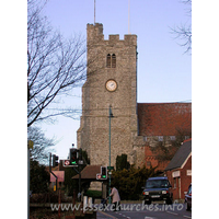 Holy Trinity, Rayleigh Church -    The west tower, viewed from the south.
