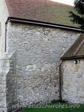 St Mary & All Saints, Great Stambridge Church - In the N wall of both the chancel and nave are indications of 