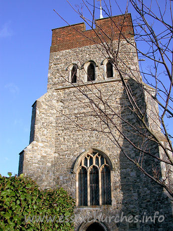 St Mary & All Saints, Great Stambridge Church - The tower is C15.