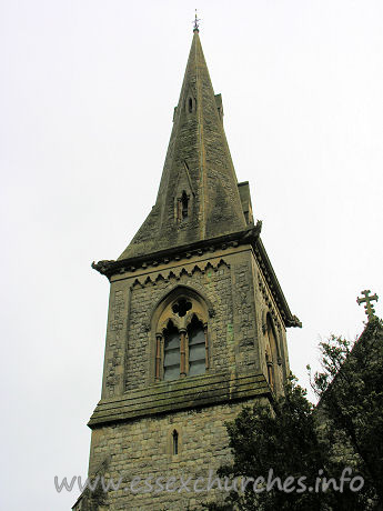 St Mary (New Church), Mistley  Church - Pevsner states that this church has a SW steeple with spire ...