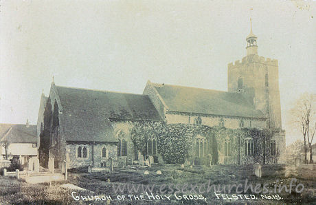 Holy Cross, Felsted Church - Postcard by Aeroplane Publishing Company.