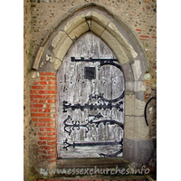St Mary, Buttsbury Church - The N door proudly displays some wonderful 