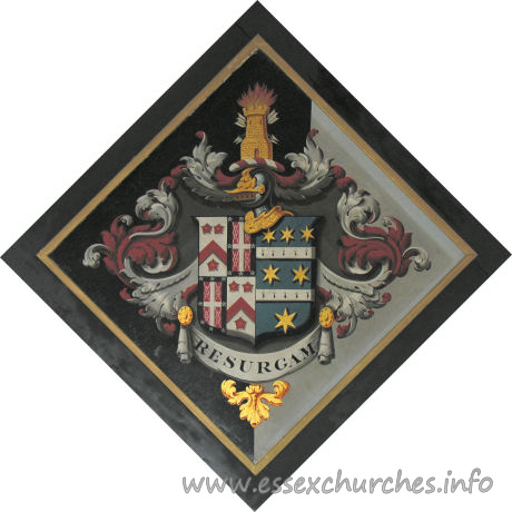 St John, Finchingfield Church - For John Ruggles-Brise, of Spains Hall, who married 1824, Catherine, daughter of John Haynes Harrison, of Copford Hall, and died 24 September 1852.