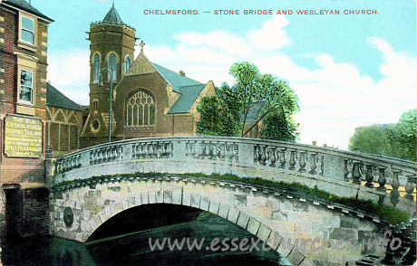 Wesleyan Church, Chelmsford  Church - Postcard - The IXL Series