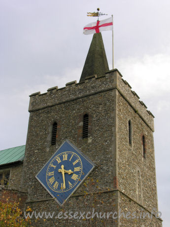 St Mary the Virgin, Great Bardfield Church - The giant clock was dedicated on August 26th 1912, commemorating the coronation of George V in 1911.