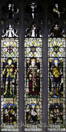 St Mary the Virgin, Great Bardfield Church - N aisle, representing the Three English Saints.