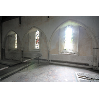 St John the Baptist, Mucking Church - Three arcades in the chancel wall, which would have once led into a C13 N chapel.